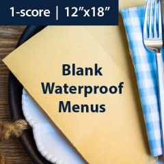 "REVLAR Soft Blank Menu: White 12"" x 18"" 1-score (50 sheets)"