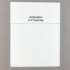 Blank Perforated Paper w/ 1 Perforation