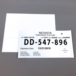 Revlar Nevada License Plate Inkjet Printer Only Relyco Wildly Reliable