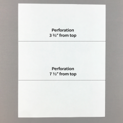 Blank Perforated Paper w/ 2 Perforations